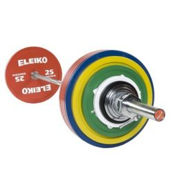 ELEIKO VARŽYBINIS JĖGOS TRIKOVĖS ŠTANGOS KOMPLEKTAS 285 kg