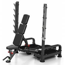 PROFESSIONAL WEIGHT BENCH WITH BARBELL STAND MARBO MP-L213